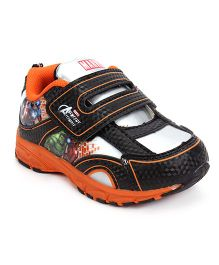 Marvel Sports Shoes With Velcro Closure - Black Orange