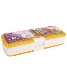 Pratap Top Rank Pencil Box - Yellow