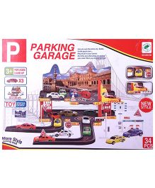Kreative Box Parking Garage Playset - 34 Pieces