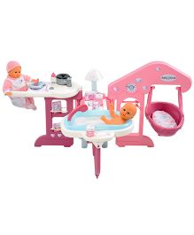 Smoby Baby Nurse Baby's Home - Pink