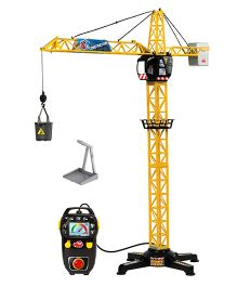 Dickie Giant Crane With Cable Remote Control - Yellow