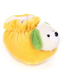 Cute Walk Booties Puppy Face Design - Yellow