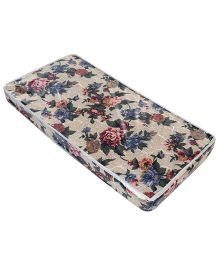 Spring Air Foam Mattress Floral Print - Light Brown And Green