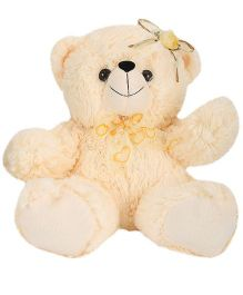 Funzoo Angel Bear Flower Applique Cream - Height 10 Inches