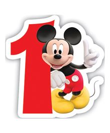Disney Mickey Mouse And Friends Birthday Numeral 1 Candle - 2.5 inches