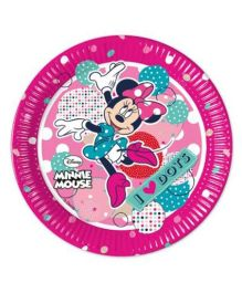 Disney Minnie Mouse Paper Plates Printed Pink - 8 pieces