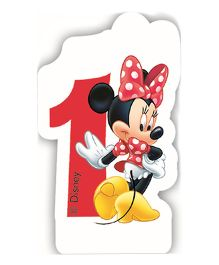 Disney Minnie Mouse Birthday Numeral 1 Candle - Red