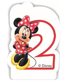 Disney Minnie Mouse Birthday Numeral 2 Candle - Multi Color