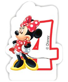 Disney Minnie Mouse Birthday Numeral 4 Candle - Multi Color