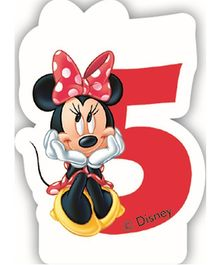 Disney Minnie Mouse Birthday Numeral 5 Candle - Red