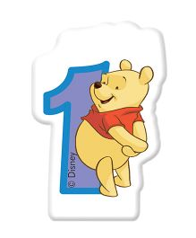 Winnie the Pooh Party Favors Birthday Numeral Candle - No 1