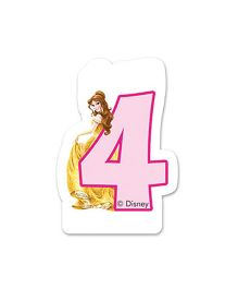 Disney Birthday Numeral 4 Candle - 2.5 inches