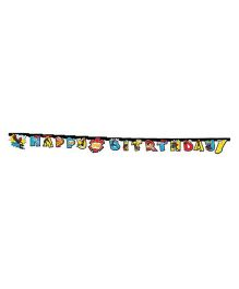 Marvel Spiderman Happy Birthday Die Cut Banner - Length 2.2meters