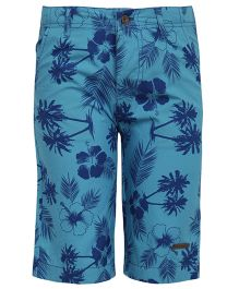 Bells and Whistles Printed Twill Shorts - Blue
