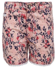 Bells and Whistles Shorts Floral Print - Pink
