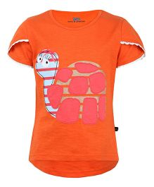 Bells and Whistles Short Sleeves Top Patch Work - Orange