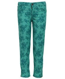 Bells and Whistles Trousers Floral Print - Green