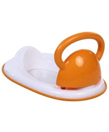 Baby Potty Seat With Armrest - Orange And White