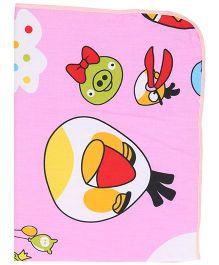 Diaper Changing Baby Mat Bird Print - Pink