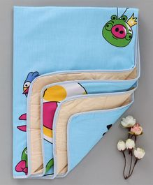 Diaper Changing Baby Mat Bird Print - Blue