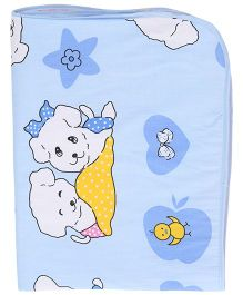 Diaper Changing Baby Mat Puppy Print - Blue