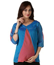 Morph Colorful Maternity Top - Pink And Blue