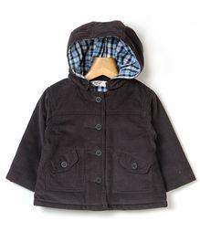Beebay Corduroy Hooded Jacket - Navy Blue
