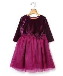 Beebay Dress With Floral Accent - Purple