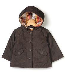 Beebay Corduroy Hooded Jacket - Brown