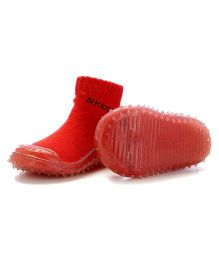 Skidders Lurex Grip Shoes - Ruby Red
