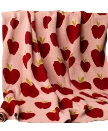 Pluchi Juicy Apple 100 Percent Cotton Single Blanket For Babies - Multicolor