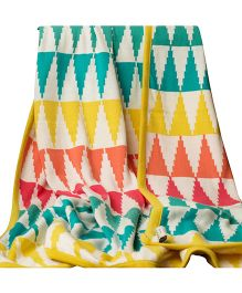 Pluchi Multicolor Crayons 100 Percent Cotton Single Blanket for Kids