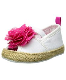 Baby Deer Crawling Stage Espadrille - White
