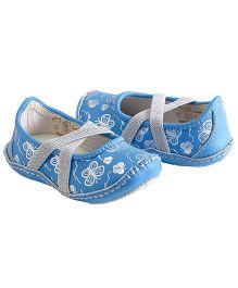 Rileyroos Mairin in Turquiose Butterflies Baby Shoe