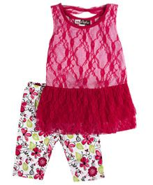 Baby Ziggles Sleeveless Tunic Top And Leggings - Pink