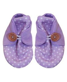 Bootie Patootie Orchid Star High Top Booties - Purple