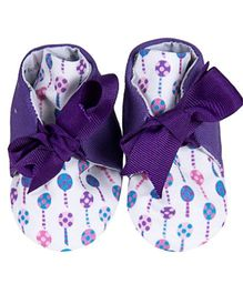 Bootie Patootie Loli High Top Booties - Purple