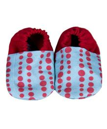 Bootie Patootie Bubble Flat Booties - Blue And Red