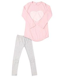 Cocalily Boutique Heart Tunic Top And Leggings - Pink