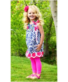 CocaLily Boutique Pillowcase Dress - Navy Blue And Pink