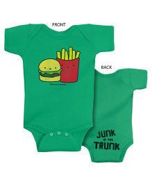 Infant Onesie Junk Trunk Print - Vintage Green