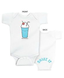 Infant Onesie Shake It Print - White
