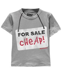 Toddler Tee Caption Print For Sale - Heather Grey