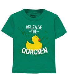 Toddler Tee Caption Print Release The Chicken - Vintage Green