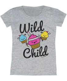 Toddler Tee Caption Print Wild Child - Silver Heather
