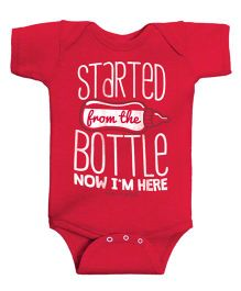 Infant Onesie Caption Print  - Vintage Red