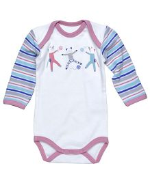 Under The Nile Long Sleeve Babybody Cat Print - Off White