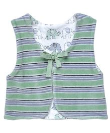 Under The Nile Reversible Vest - Grey And Green