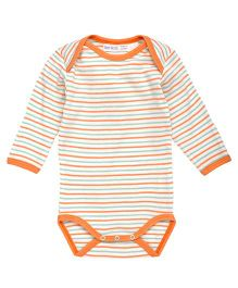 Under The Nile Long Sleeves Babybody Stripe Pattern - Orange