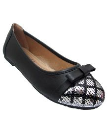 Yokids Slip-On Belly Shoes Sequin Detailing - Black